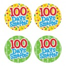 100 DAYS SMARTER WEAR EM BADGES