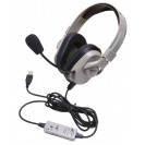 Titanium Series Washable USB Headphones w/ Mic
