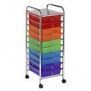 10 Drawer Mobile Organizer | Rolling Cart