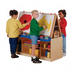 Jonti-Craft 4 Station Art Center | Art Easel | Classroom Easel