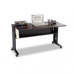 Safco Mobile Computer Desk W/ Reversible Top