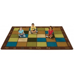 Nature's Colors Classroom Seating Rug | natural colors classroom rugs | earth-tone classroom rugs