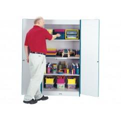 Preschool Storage | Classroom Storage | Supplies Storage | Rainbow Accents Classroom Closet - Deluxe