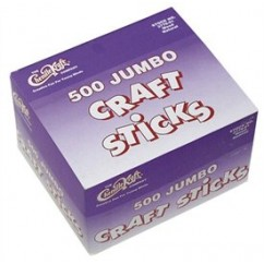 Chenille Kraft Company - Jumbo Craft Sticks 500 Pieces