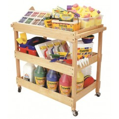 Hardwood Utility Cart | Classroom Storage | Kids Art Storage