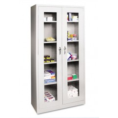 See-Through Door Assembled Storage Cabinet