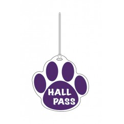 Purple Paw Hall Pass 4 X 4