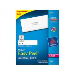 Avery Easy Peel 1x4 White Mailing