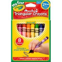 My First Crayola 8ct Triangular