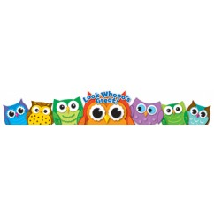 Colorful Owls Crowns 30ct
