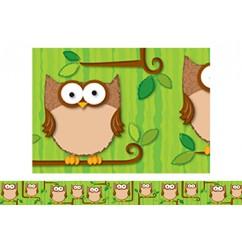 Woodland Owls Border
