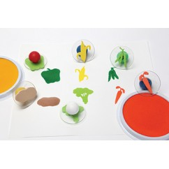 Ready2learn Giant Vegetable Stamps