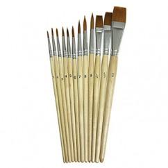 Watercolor Brushes 12pk Assorted