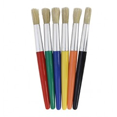 Round Wooden Handle Brushes 6/set