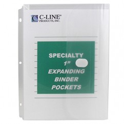 Binder Pocket Velcro Closure 10pk