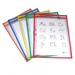 Reusable Dry Erase Pockets 5/box