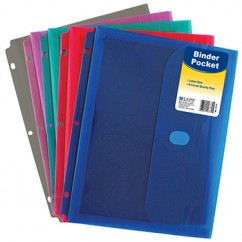 Binder Pocket W/ Velcro Closure
