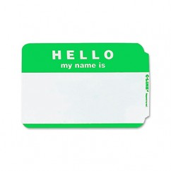 C Line Self Adhesive Green Name
