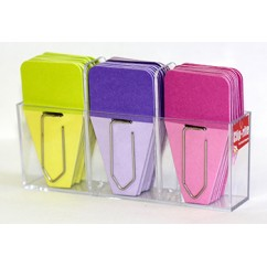 Small Solid Clip Tabs Lime Purple