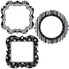 Cards Black And White 6in Designer