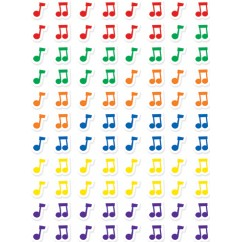 Music Notes Hot Spots Stickers