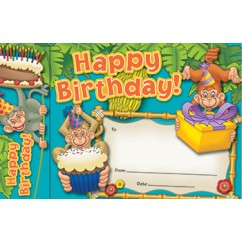 Happy Birthday Monkeys Bookmark