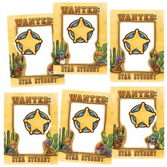 Wanted Star Student Frames Accents