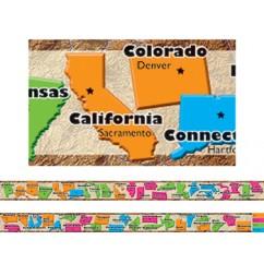 50 States Spotlight Border