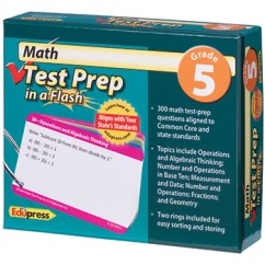 Math Test Prep In A Flash Gr 5