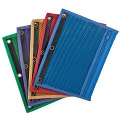Oxford Zipper Mesh Binder Pockets