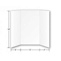 Foam Project Boards 10pk White 18h