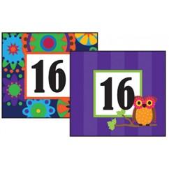 Mod Circles With Owls Calendar