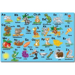 Bilingual Alphabet Floor Puzzle