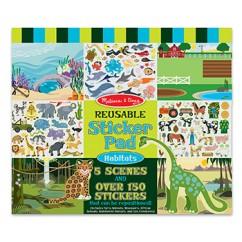 Reusable Sticker Pad Habitats