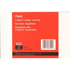 Mead Index Cards 4 X 6 Ruled