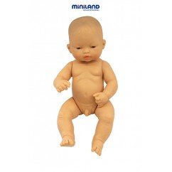 Newborn Baby Doll Asian Boy 12-5/8