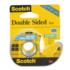 Scotch Double Sided Tape 3/4x200in