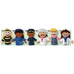 Multi Ethnic Career Puppet 6 Set Of