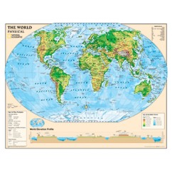 Physical Series World Map