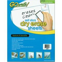Go Write Dry Erase Sheets 30pk