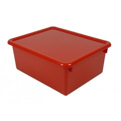 Stowaway Red Letter Box With Lid