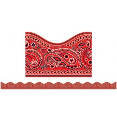 Red Bandanna Scalloped Trimmer