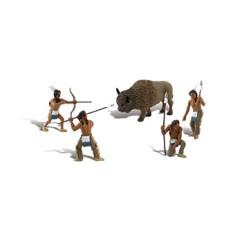 Native American Hunt Scene Setters
