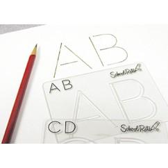 Beginning Alphabet Templates Upper