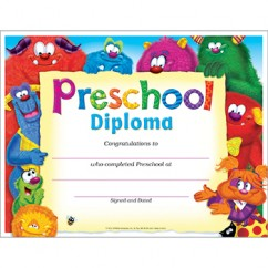 Preschool Diploma Furry Friends