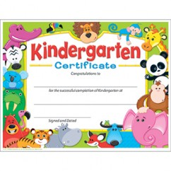 Kindergarten Certificate Awesome