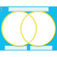 Venn Diagram Wipe Off Chart 17x22