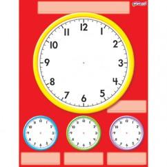 Clocks Wipe Off Chart 17x22