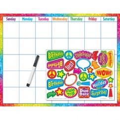 Colorful Brush Strokes Calendar