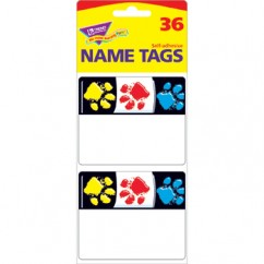 Paw Prints Name Tags